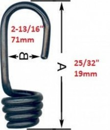 "Bungee Cone Hook 5/16""/8mm  (Plastic Coated Steel) - Product Image"