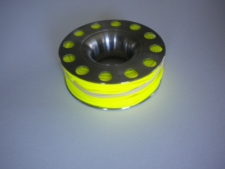 """100ft Stainless Steel Finger Spool  """"Yellow Line"""" - Product Image"""