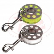 100ft Stainless Steel Finger Spool w/ Yellow or White Line - Product Image