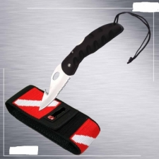 Folding Dive Knife SS w/dive shealth - Product Image