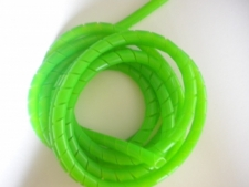 Spiral GREEN Hose Wrap by the 10 FOOT Piece - Product Image