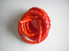 Spiral RED Hose Wrap by the FOOT! - Product Image