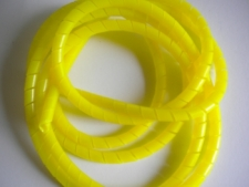 Spiral YELLOW Hose Wrap by the FOOT - Product Image