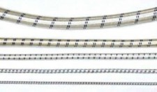 "3/16"" White w/ Black Strip Bungee Cord - Product Image"