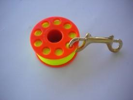 "100' Finger Spool w/ Orange spool body ""High Viz Yellow Line"" - Product Image"