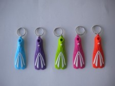 """Keychain Fin Style      """"Orange Color Fin"""" - Product Image"""