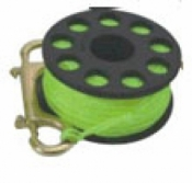 "100' Finger Spool w/ Black spool body ""High Viz Yellow Line"" - Product Image"