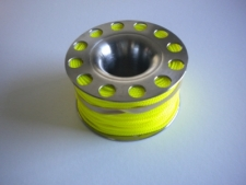 """150ft Stainless Steel Finger Spool  """"Yellow Line"""" - Product Image"""