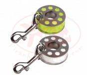 150ft Stainless Steel Finger Spool w/ Yellow or White Line - Product Image