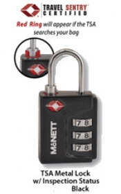 2 BLACK TSA Locks w/ indicator - Product Image