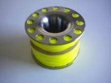 "200ft Stainless Steel Finger Spool  ""Yellow Line"" - Product Image"