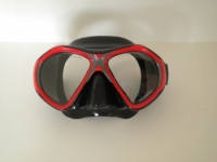 "Tiara 2 Mask   Metal Ruby ""red"" w/Black Silicone Skirt - Product Image"