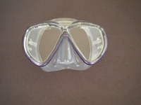 Tiara 2 Mask  Metal Purple w/Clear Silicone Skirt - Product Image