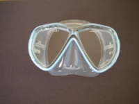Tiara 2 Mask  Soft Blue w/Clear Silicone skirt - Product Image