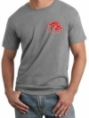 Piranha T-Shirt Sports Gray w/ Red Logo - Product Image