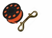 "100' Finger Spool w/ Black spool body ""High Viz Orange Line"" - Product Image"