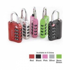 "TSA Approved Luggage Lock    ""Dive Flag Red"" - Product Image"