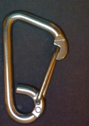 4 Inch Stainless Steel Carabineer w/swing Gate - Product Image