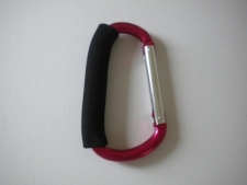 5 1/2 Inch Aluminum Carabineer with Foam Handle in PINK - Product Image