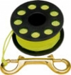 "50' Finger Spool w/ Black spool body ""High Viz Yellow Line"" - Product Image"
