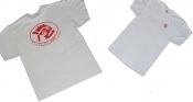 Piranha T-Shirt White w/ Red Logo - Product Image