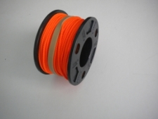 75ft Molded Large Hole Finger Spool w/ ORANGE #24 Line - Product Image