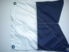"Nylon Alpha Dive Flag w/ Wire Stiffener ""20 inch x 24 inch"" Size Large - Product Image"