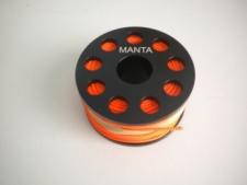 "Aluminum 100ft Finger Spool ""Orange #24"" - Product Image"