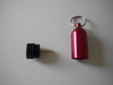 "Aluminum Tank w/pick & Split Ring  ""RED"" - Product Image"