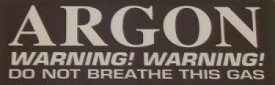 Argon Gas Decal - Product Image