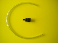 Barb Adapter w/18 inches of clear tubing  - Product Image