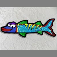 Blue Barraccuda Wall Art - Product Image