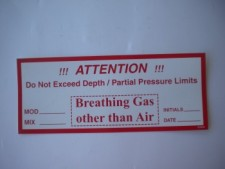 Breathing Gas Sticker - Product Image