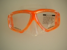Carina Orange Mask w/Clear Skirt - Product Image