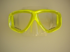 Carina Neon Yellow Mask w/Clear Skirt - Product Image