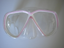 Coral Bay Soft Pink Mask w/Clear Skirt - Product Image