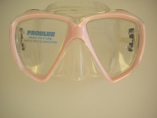 Delight Mask Soft Pink Frame w/Clear Silicone Skirt - Product Image