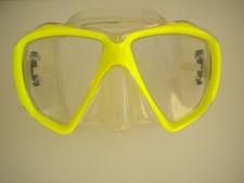 Delight Mask Neon Yellow Frame w/Clear Silicone Skirt - Product Image
