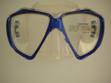 Delight Mask Trans Blue Frame w/Clear Silicone Skirt - Product Image