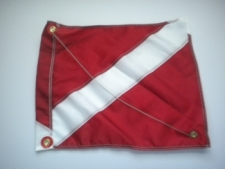 "Nylon Dive Flag w/ Wire Stiffener ""14 inch x 18 inch"" Size Small - Product Image"