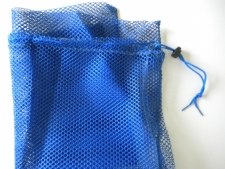 Drawstring All Mesh Bag Large    BLUE - Product Image