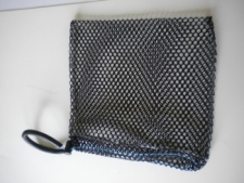 Drawstring All Mesh Bag Mini w/Wrist Lanyard     BLACK Mesh - Product Image