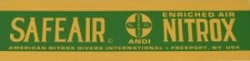EAN Safe Air Nitrox Decal - Product Image