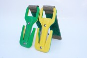 Eezycut Green/Yellow Knife Harness Pouch - Product Image