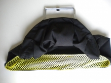 "Explorer Collection Bag         ""Black bag w/yellow mesh"" - Product Image"