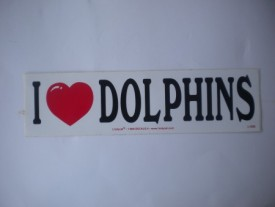 I Love Dolphins Decal - Product Image