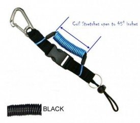 "Coiled Lanyard w/ 2 1/2"" Carabiner to Sliding Barrel Lock - Product Image"