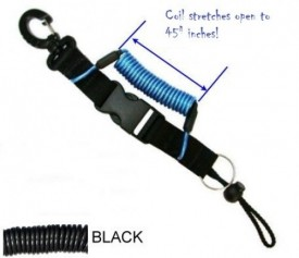 Coiled Lanyard w/ Delrin Clip to Sliding Barrel Lock - Product Image