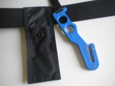 Long Handle Hook Cutter  Blue Handle / Black Pouch - Product Image