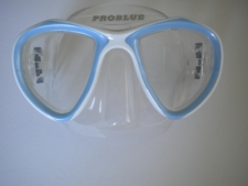 Look Mask Soft Blue w/Clear Silicone skirt - Product Image